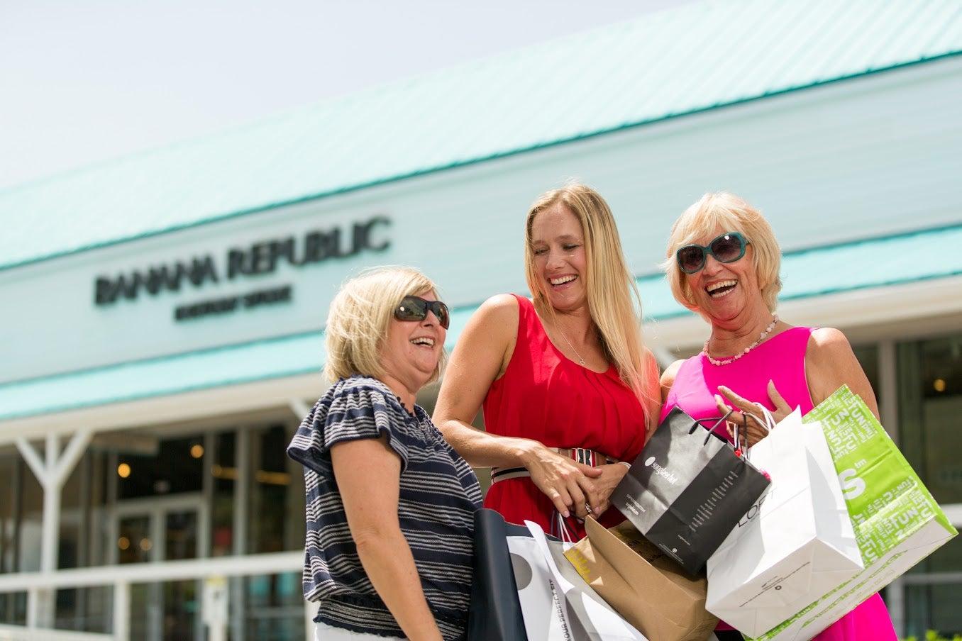 Shoppers enjoy Labor Day Sidewalk Sales.