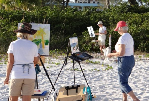 Artists paint the inspiring Fort Myers Beach area during the annual Paint the Beach festival.