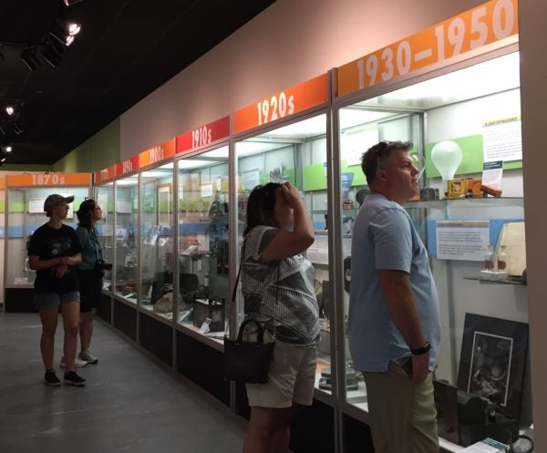 The Timeline of Innovation is a new exhibit at the museum.