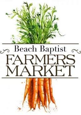 Beach Baptist Farmer's Market logo.