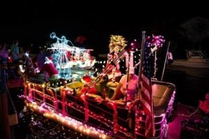 Christmas Boat Parades are colorful sights.
